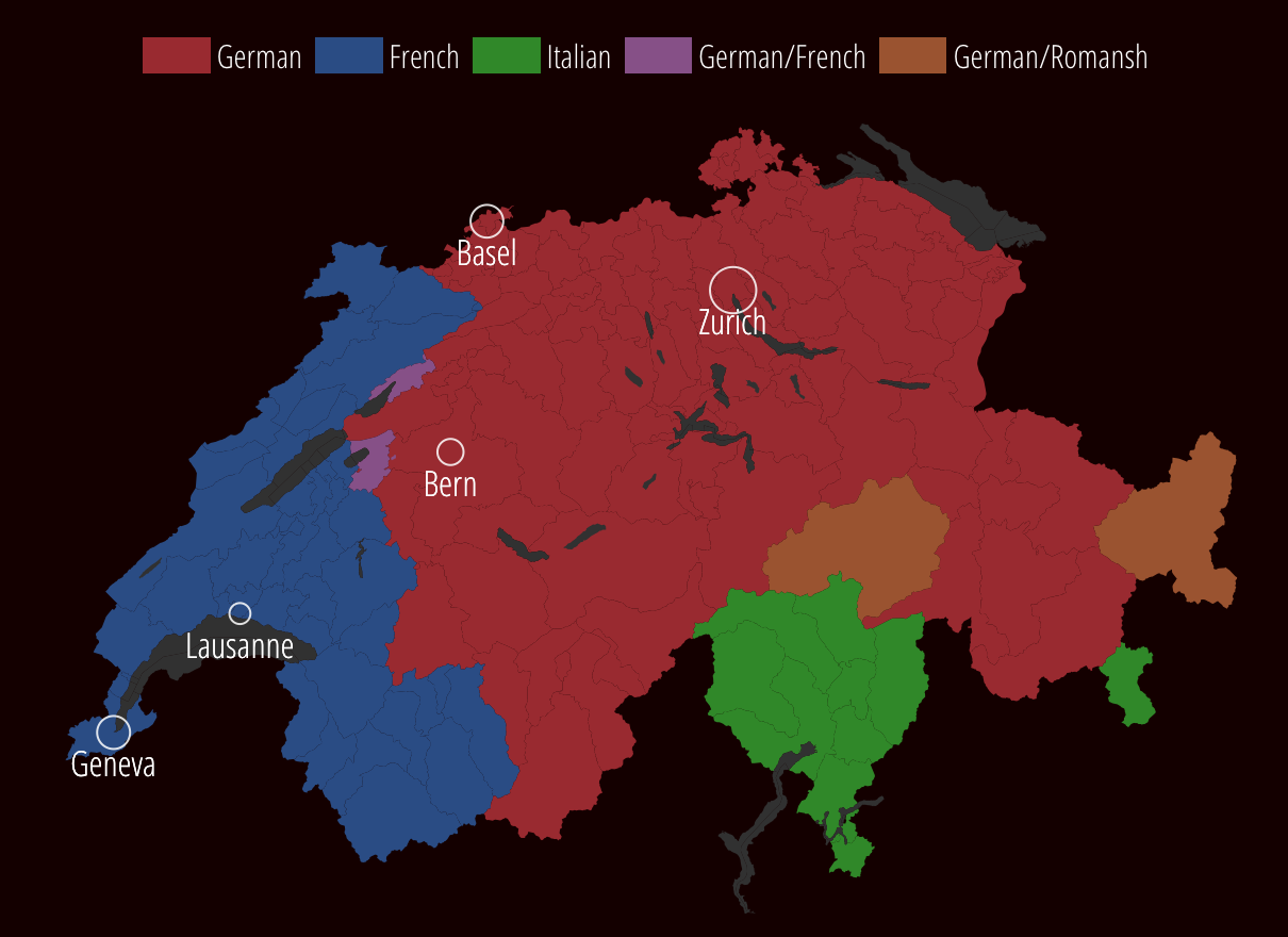 Map Of Germany And Switzerland With Cities.Defining The 25 Foreign Population In Switzerland Swi Swissinfo Ch